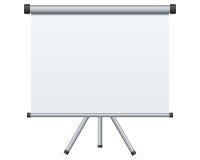 blank projektionsskärm vektor illustrationer