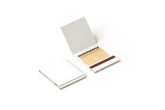 Blank promo matches book mock up, clipping path Royalty Free Stock Images