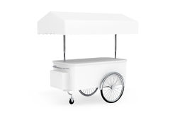 Blank Promotion Cart and Canopy Royalty Free Stock Images