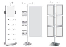 Blank Promotion Stand set. Royalty Free Stock Photos