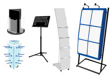 Blank Promotion Stand set. Stock Images