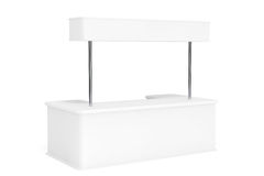 Blank Promotion Stand Stock Photo