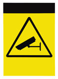 Blank protected by video surveillance sign, isolated copy space background Royalty Free Stock Photography