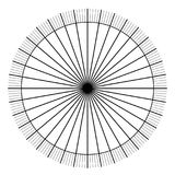 Blank protractor - Actual Size Graduation isolated on background vector. Ilustration Stock Photos