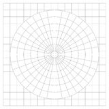 Blank protractor - Actual Size Graduation isolated on background vector. Ilustration Royalty Free Stock Photo