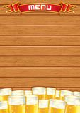 Blank Pub Menu. Vector Wooden Background Royalty Free Stock Photo