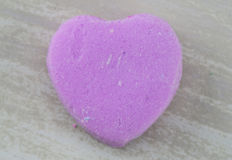 Blank Purple Candy Heart Centered on White Background Stock Photo