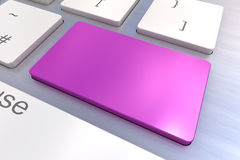 Blank Purple keyboard button Stock Photos