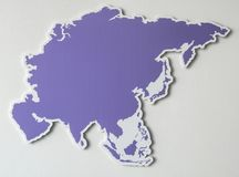 Purple map of the Asian continent. Blank purple map of the Asian continent Royalty Free Stock Image