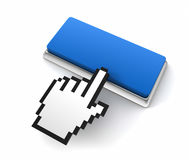 Blank push button  3d illustration Royalty Free Stock Photos