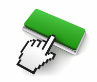 Blank push button 3d illustration Royalty Free Stock Photography