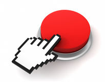 Blank push button  3d illustration Stock Photography