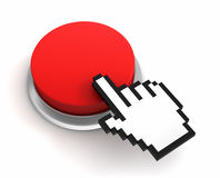 Blank push button Royalty Free Stock Image