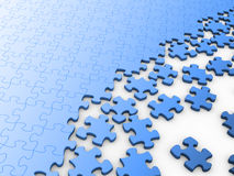 Blank puzzle Royalty Free Stock Photo