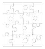 Blank Puzzle. Complete blank puzzle texture (16 pieces Royalty Free Illustration