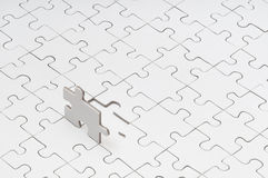 Blank Puzzle stock photo