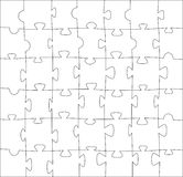 Blank puzzle Royalty Free Stock Photos