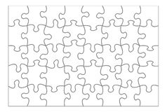 Blank Puzzle Royalty Free Stock Image