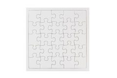 Blank Puzzle Stock Image