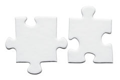 Blank puzzle. On a white background stock photos