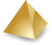 Blank pyramid Royalty Free Stock Image