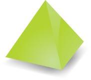 Blank pyramid Royalty Free Stock Photo