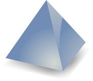 Blank pyramid Royalty Free Stock Images