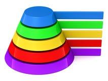 Blank pyramid labels Stock Photo