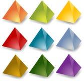 Blank pyramids Royalty Free Stock Image