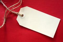 blank röd etikett Arkivbilder