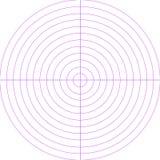 Blank radar screen Royalty Free Stock Image
