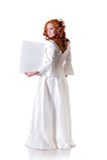 blank ramkvinna Royaltyfria Foton