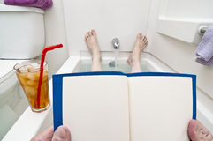 Blank Reading Material For Bathtub Readers Stock Image