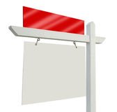 Blank Real Estate Sign on White Royalty Free Stock Photo