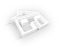 Blank Real Estate symbol. 3d Blank Real Estate symbol Royalty Free Stock Photos