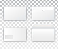 Blank realistic envelope white royalty free illustration