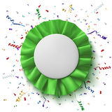 Blank, realistic green fabric award ribbon Stock Photo