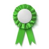 Blank, realistic green fabric award ribbon Stock Images