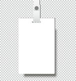 Blank realistic Identity card badge with ribbon mockup cover template Stock Photo