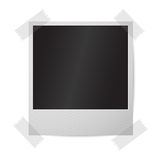 Blank realistic isolated on white vector instant. Photo frame, sticked to the wall. Template for your photos, design etc with place for your text Royalty Free Stock Photos