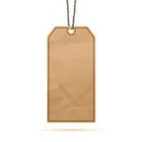 Blank realistic paper vintage price tag Stock Photography