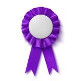 Blank, realistic purple fabric award ribbon Stock Photos