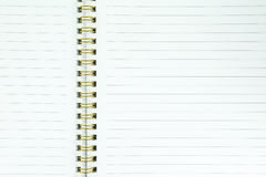 Blank realistic spiral notebook Stock Images