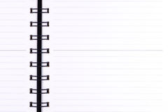 Blank realistic spiral notebook. Stock Image