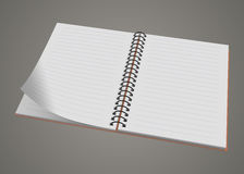 Blank realistic spiral notepad notebook isolated Royalty Free Stock Photos