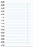 Blank realistic spiral notepad notebook isolated Stock Image