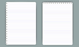 Blank realistic spiral notepad notebook isolated on white vector Royalty Free Stock Photography