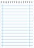 Blank realistic spiral notepad notebook  Stock Photography