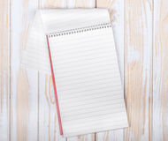 Blank realistic spiral Notepad Royalty Free Stock Photos