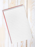 Blank realistic spiral Notepad Royalty Free Stock Images